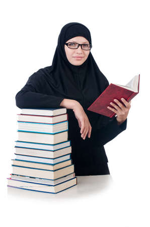 Young muslim female student with books Stock Photo - 23352108