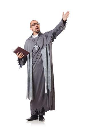 若い司祭、白で隔離されます。 写真素材 - 23923952
