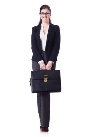 Businesswoman isolated on the white Stock Photo - 28859810