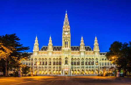 Burmistrz biuro Rathaus w Wiedniu, Austria Zdjęcie Seryjne