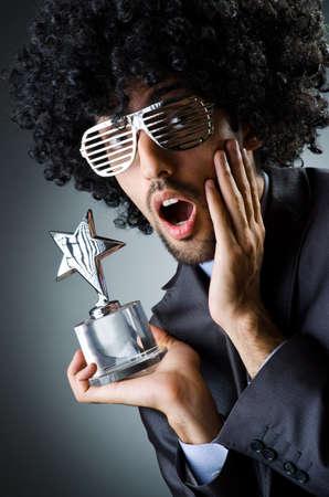 Man getting his star award photo