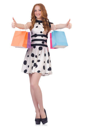 Woman in shopping concept photo