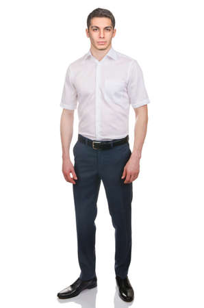 Man in fashion look isolated on white Stock Photo - 29479145