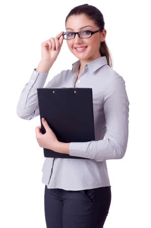 Businesswoman isolated on the white Stock Photo - 29479363
