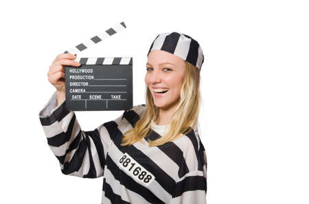 Prison Inmate with the movie clapper photo