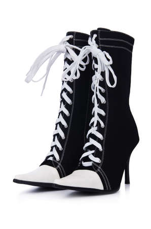 jackboots: Topboots isolated on the white Stock Photo