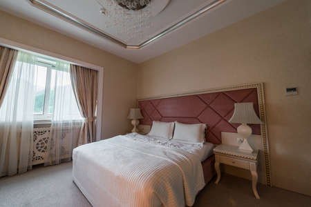 GABALA - MAY 18: Room in Riverside Hotel on May 18, 2014 in Gabala, Azerbaijan. Riverside hotel is first 5 star hotel in Gabala, Azerbaijan