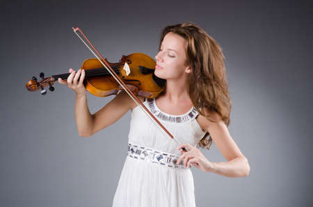 Woman artist with violin in music concept Stock Photo - 30385205