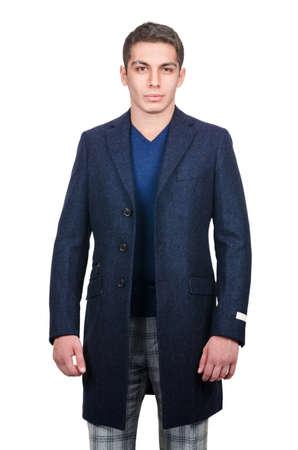 Male coat isolated on the white photo