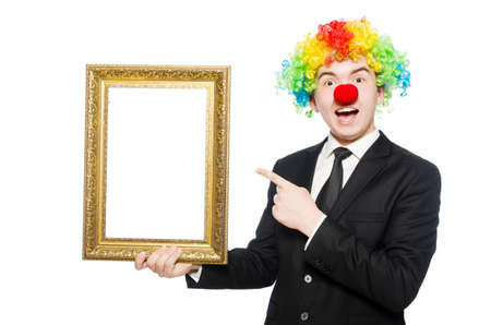 Clown isolated on the white background photo