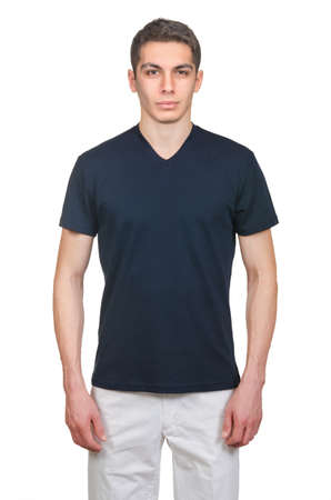 Male t-shirt isolated on the white background photo