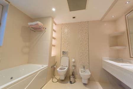 Toaleta w nowoczesnym wnętrzu Zdjęcie Seryjne