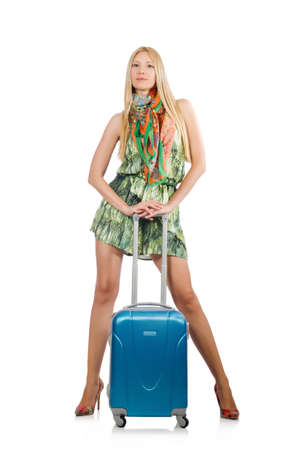 Young woman preparing for summer vacation Stock Photo - 30735201