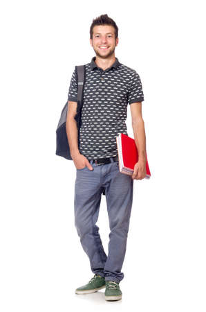 Young student isolated on the white background Standard-Bild