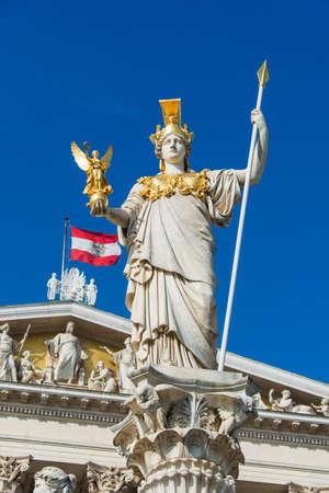 Austrian Parliament in Vienna, Austria. Austrian Parliament building is one of the most popular tourist attractions in Vienna 版權商用圖片