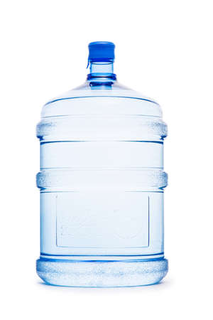 Water bottle isolated on the white Banco de Imagens