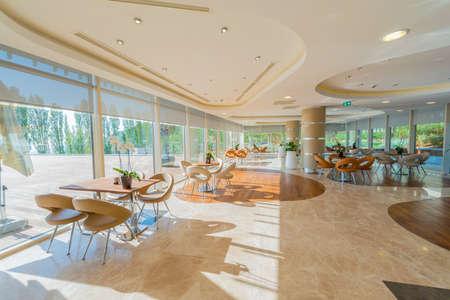 Interior of the modern restaraunt