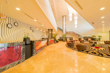 Hotel lobby with modern design Stock Photo