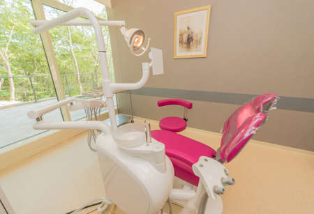 Dentist modern room with equipment and tools
