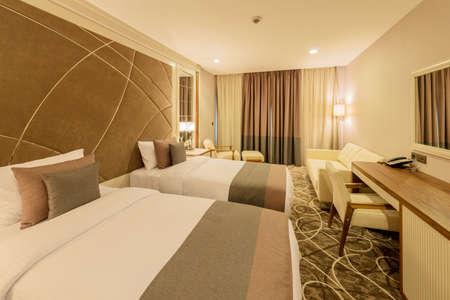 Hotel kamer met een modern interieur
