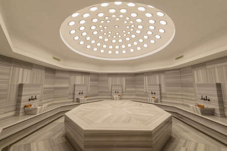 Interior of turkish bath hammam Stock Photo