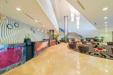 Hotel lobby with modern design Фото со стока