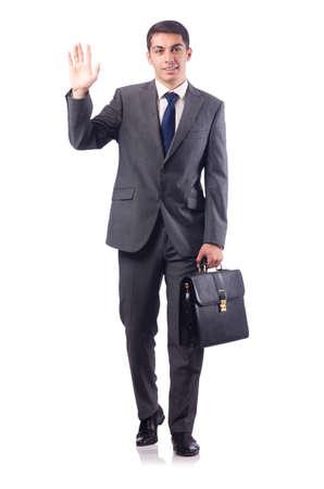 Homme d'affaires isolé sur le blanc Banque d'images - 46750297
