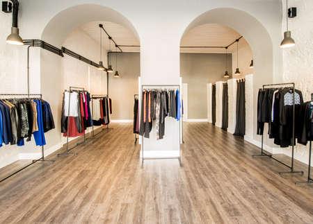 Interior of fashion clothing shop Zdjęcie Seryjne