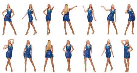 Photo composite de la femme dans diverses poses Banque d'images - 55576010