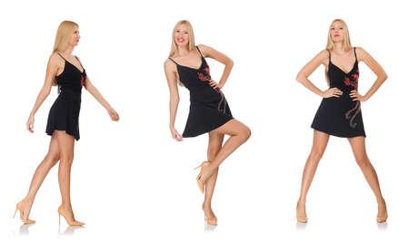 photo composite de la femme dans diverses poses
