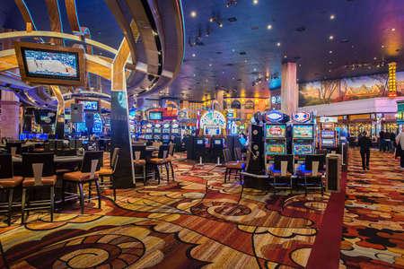 Las Vegas - 12 DECEMBER, 2013: De beroemde Casinos van Las Vegas op 12 December in Las Vegas, de VS Las Vegas is een gokhoofdstad.