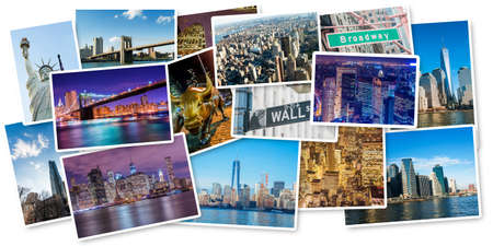 Set of New York photos arranged in frame Stock Photo - 57821197