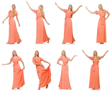 Composite photo of woman in various poses Banque d'images