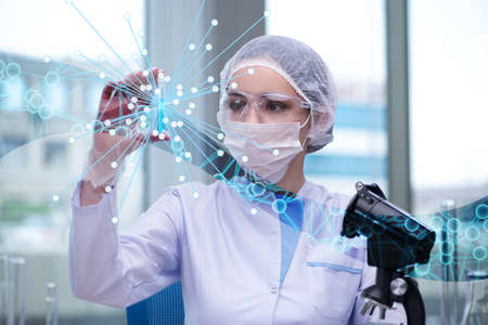 Young woman scientist in medical science concept Stock Photo - 60221157