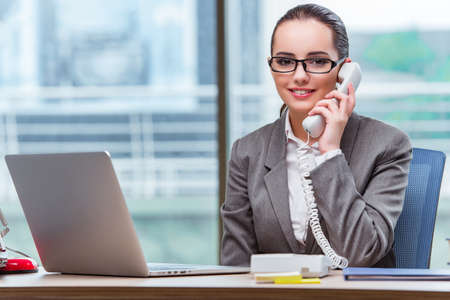 Call center operator in business concept 版權商用圖片