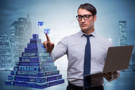 Businessman in ponzi scheme concept