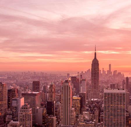 View of New York Manhattan during sunset hours Reklamní fotografie