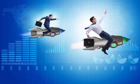 Concepto de la competición con dos hombres de negocios