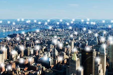 Internet der Dinge Konzept in der Stadt Standard-Bild - 72171942