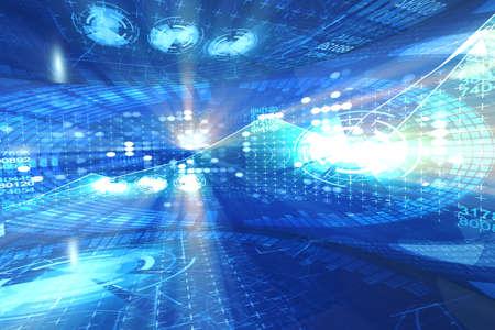 Abstract futuristic background in IT concept Standard-Bild