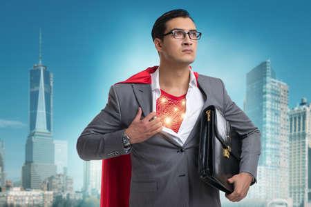 都市を保存する準備スーパー ヒーロー 写真素材