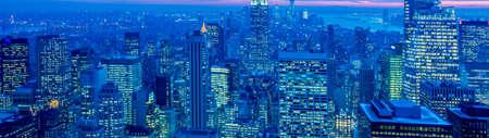 View of New York Manhattan during sunset hours 版權商用圖片