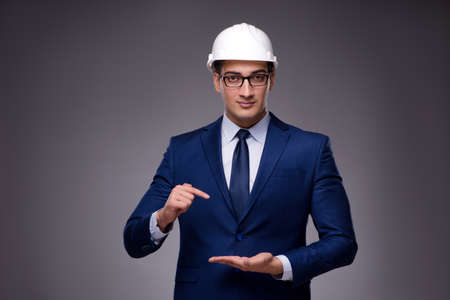 Young architect in industrial concept Stock Photo