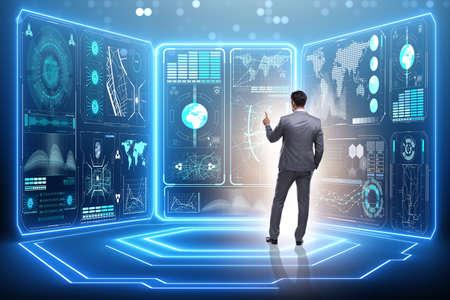 Uomo d'affari nel concetto di business globale Archivio Fotografico - 73369029