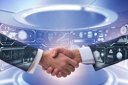 Handshake concept - zakelijke metafoor illustratie