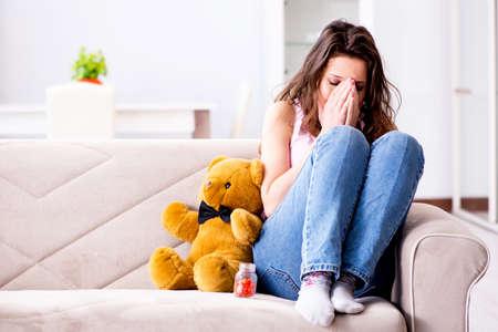 Broken woman heart in relationship concept