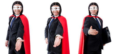 Man wearing red clothing in funny concept Stock Photo
