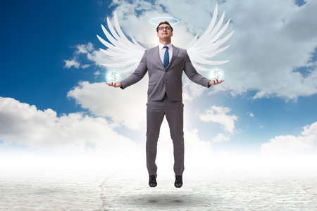 Angel investor concept with businessman with wings Reklamní fotografie