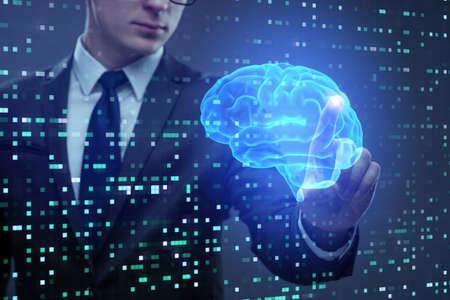 人工知能概念のビジネスマン 写真素材