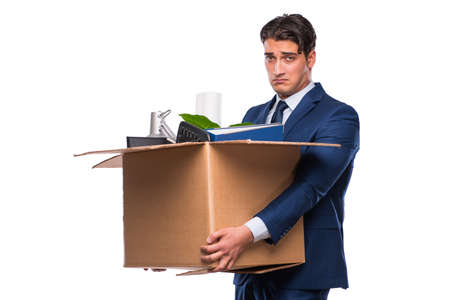 Businessman made redundant fired after dismissal Stock Photo - 77619558